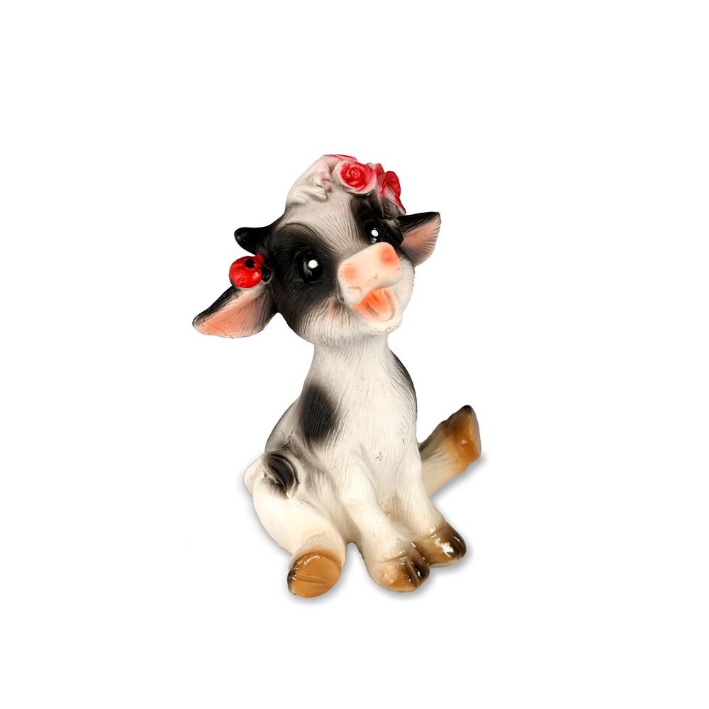 Сувенир Artus Новый Год  Смеющаяся корова в венке из роз  DP00205 , керамика 5см набор форм для выпечки menu 5см 3 5см 50шт бумага