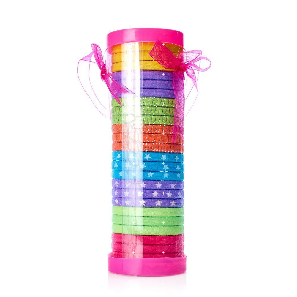 Набор детских резинок для волос Ameli в тубе , 24шт набор прищепок пластик 24шт