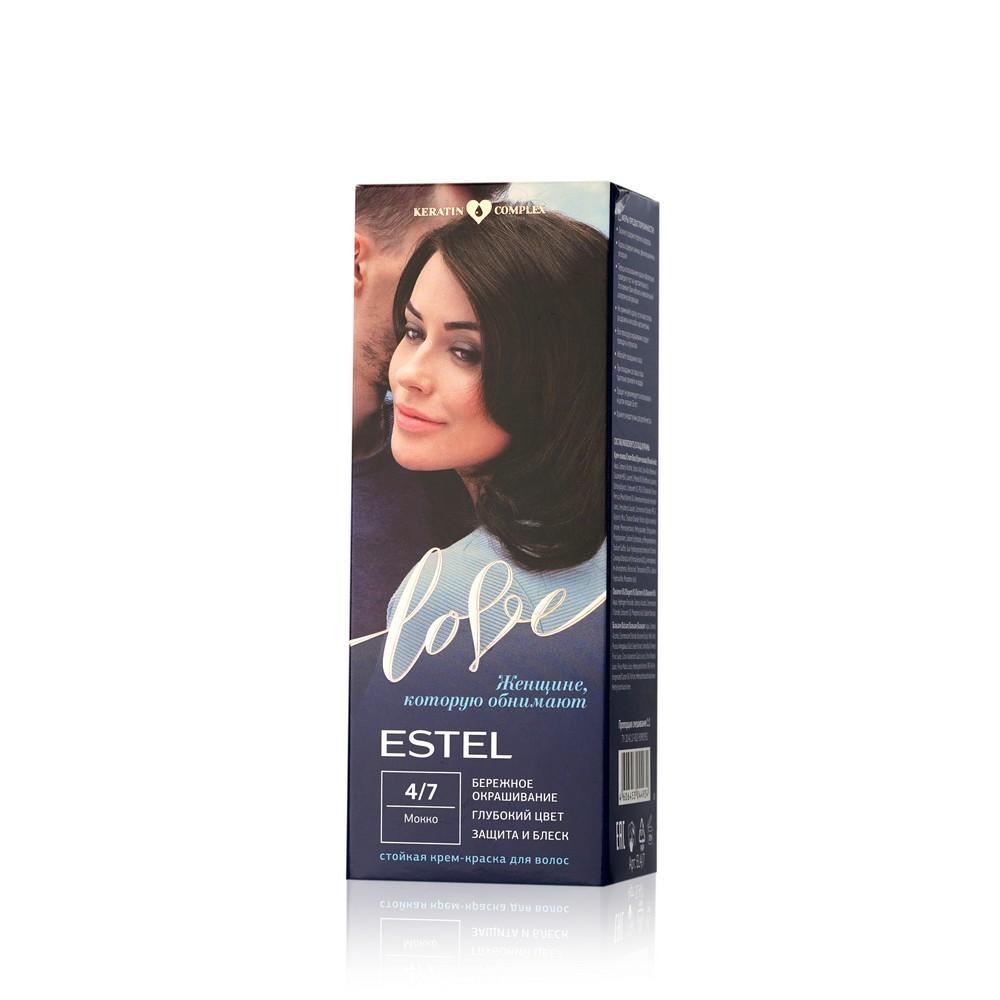 Стойкая крем - краска для волос Estel Love 4/7 Мокко