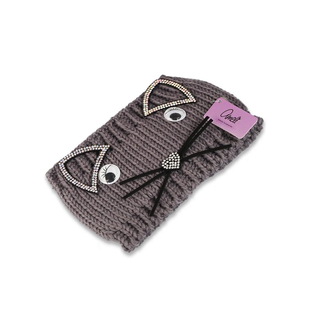 Фото - Повязка для волос Ameli вязанная  мордашка  повязка для волос ameli сверкающая