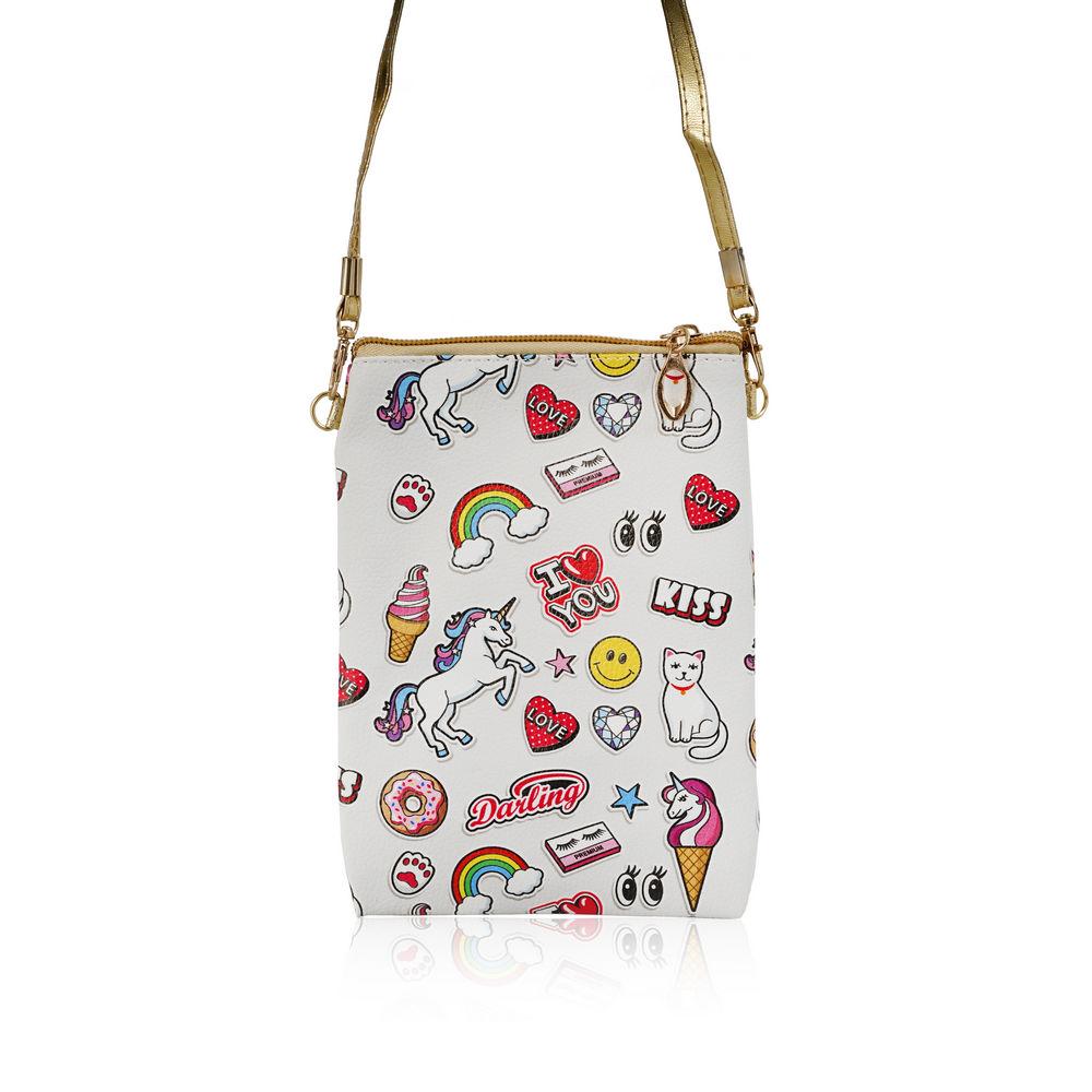 Фото - Косметичка - сумка Ameli  Поп-арт  1 отделение , длинный ремень косметичка конверт ameli со звездой