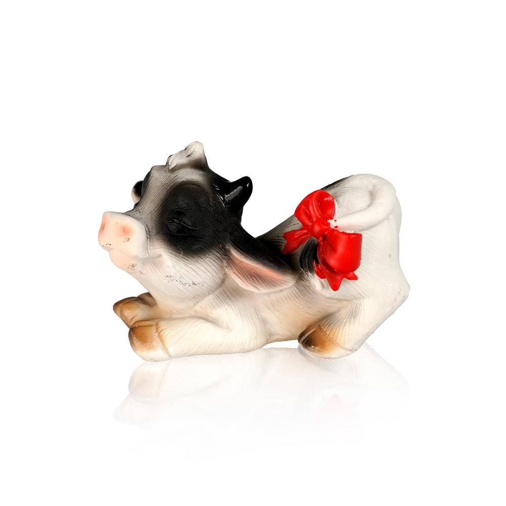 Сувенир Artus Новый Год  Потягивающаяся коровка с бантом на хвосте  керамика 5см набор форм для выпечки menu 5см 3 5см 50шт бумага