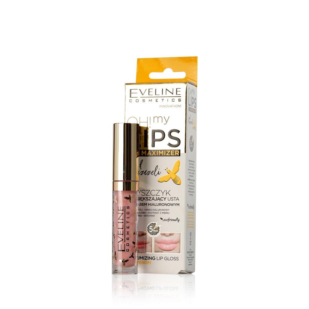 Блеск для губ Eveline Oh! My Lips с пчелиным ядом для объема 01 4,5мл chi luxury black seed oil curl defining cream gel