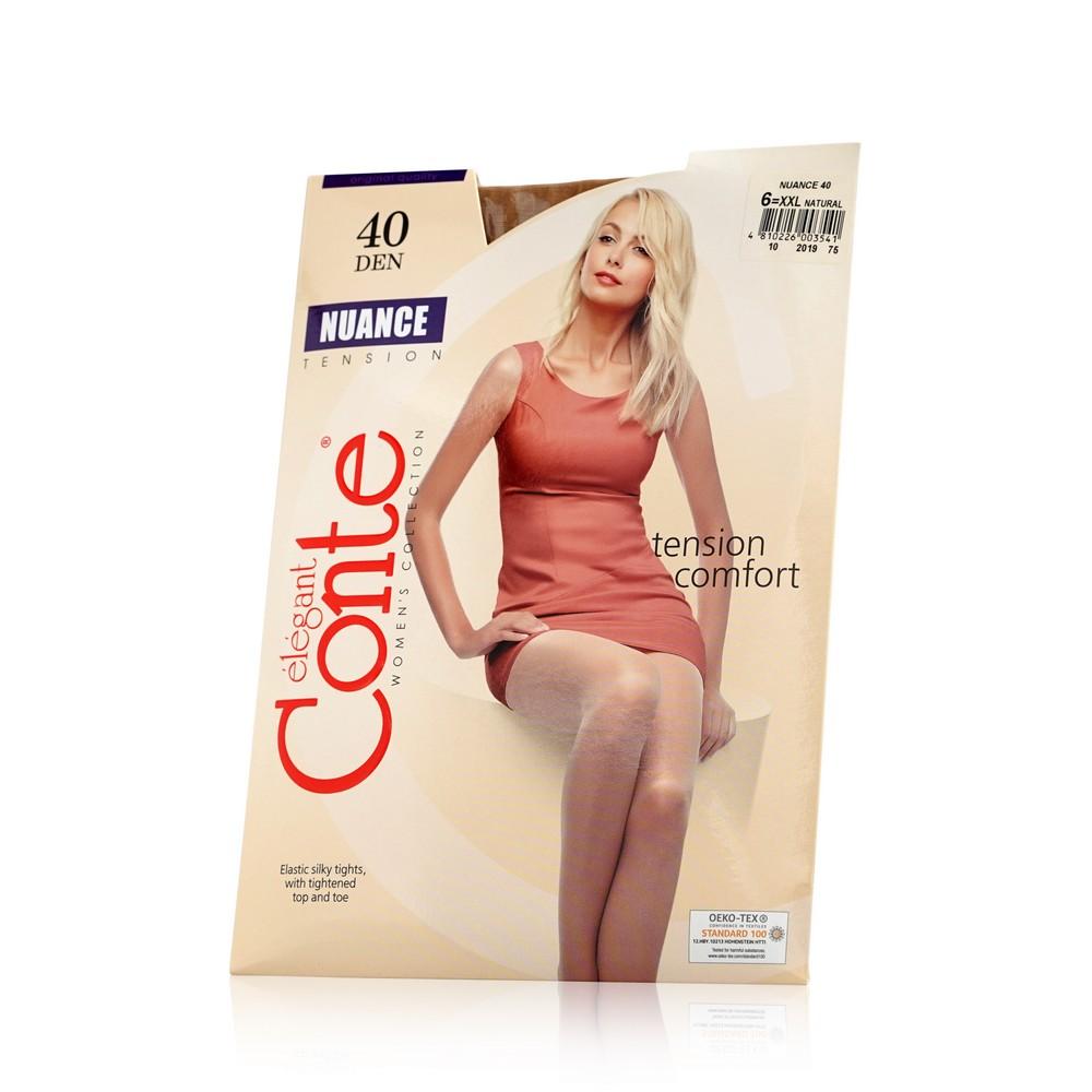 Женские колготки Conte Nuance 40den Natural 6 размер