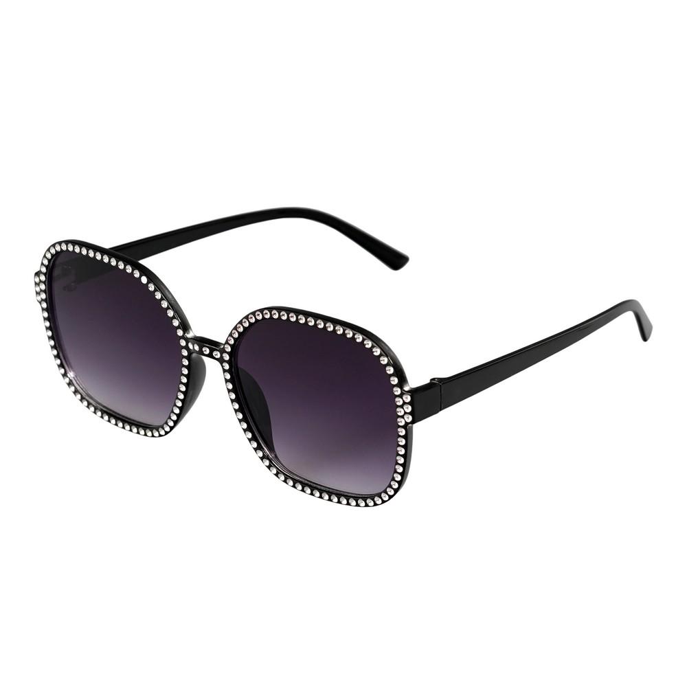 Женские солнечные очки Ameli оверсайз , со стразами