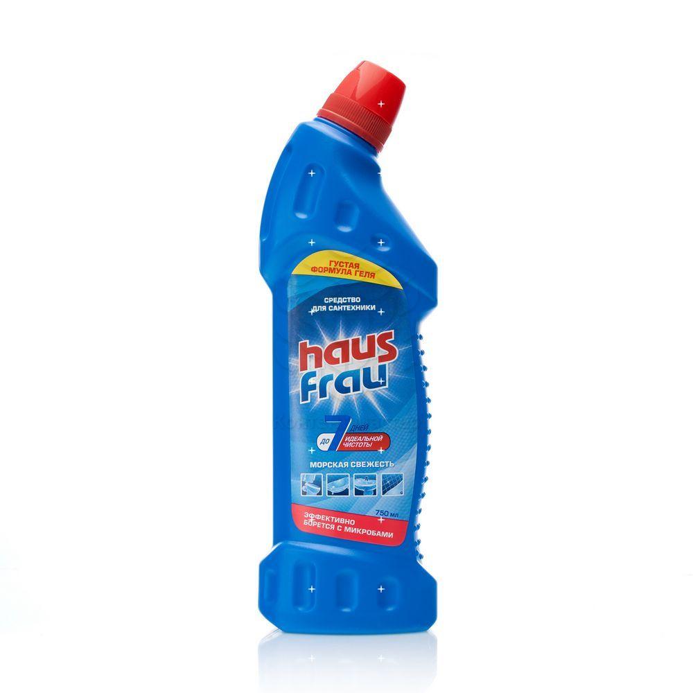 Фото - Чистящее средство Haus Frau для сантехники  Морская свежесть  750мл средство чистящее vaily для мытья пола 750мл