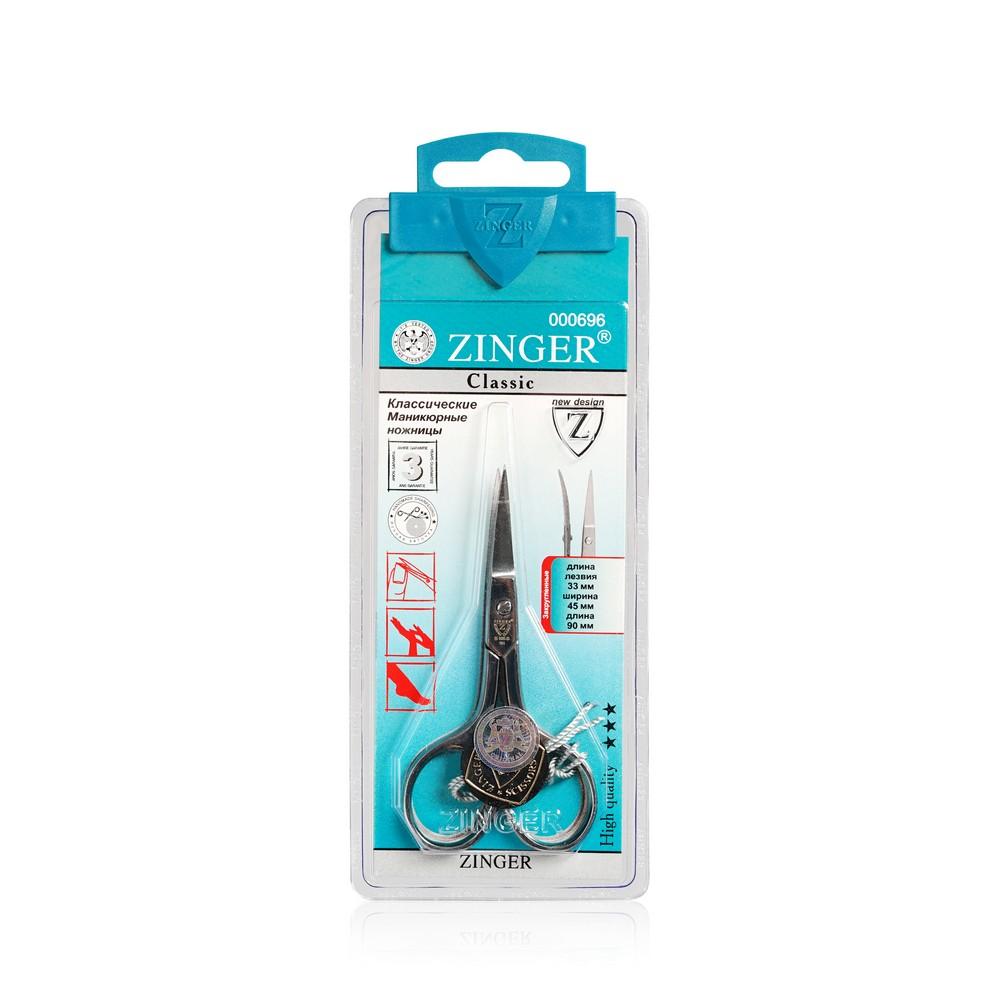 Маникюрные ножницы Zinger для ногтей B-106 , ручная заточка маникюрные ножницы zinger beauty for you b ц131 s 22870 8