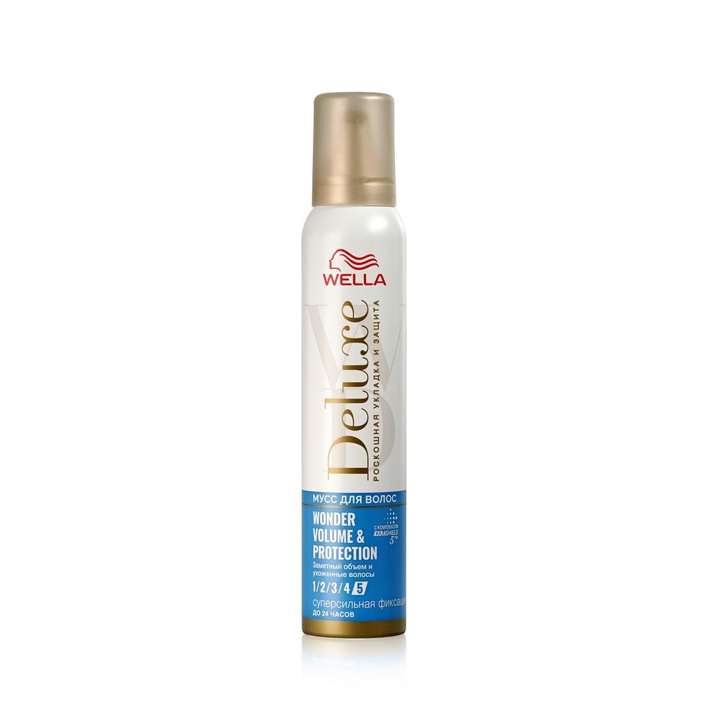 Мусс для волос Wella Wonder volume & protection Мегафиксация (5) 200мл