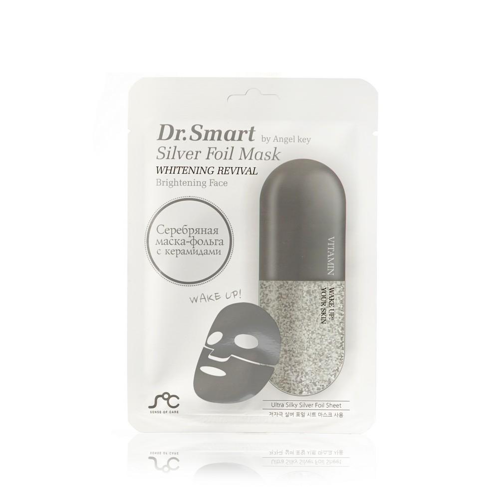 Маска для ровного цвета лица Dr. Smart Silver Foil Mask 25мл